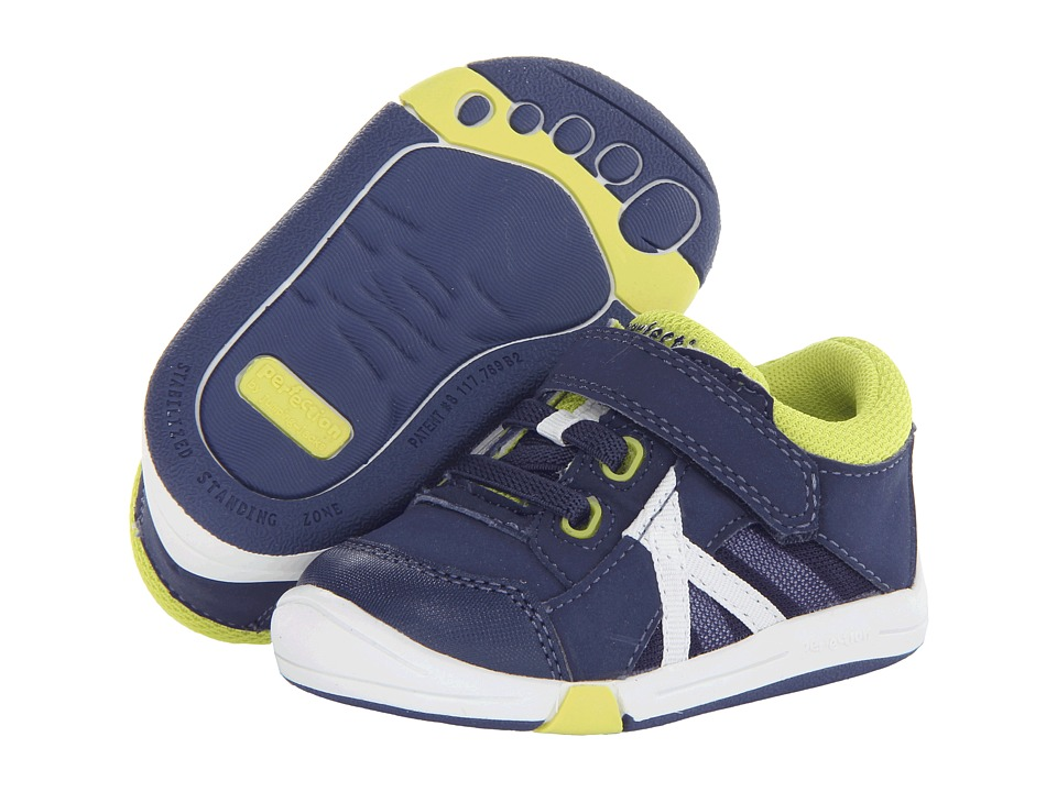 Jumping Jacks Kids - Finish Line (Toddler) (Dark Navy/Citron Trim) Boy's Shoes