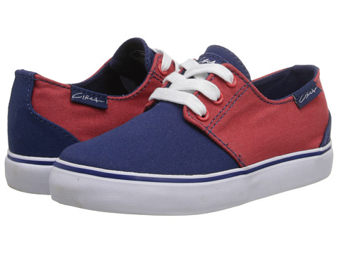 Circa - Crip (Toddler/Little Kid/Big Kid) (New Navy/Pompeian Red) Men's Skate Shoes