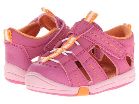 Jumping Jacks Kids - Beach Baby (Toddler) (Hot Pink Suede/Orange/White Trim) Girl's Shoes