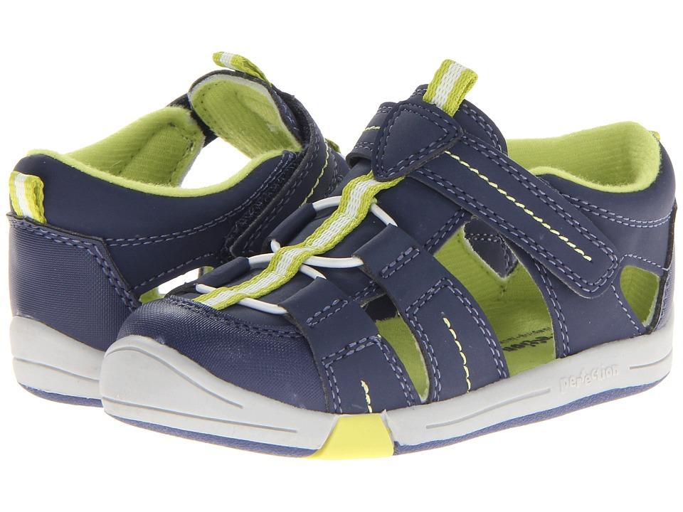Jumping Jacks Kids - Beach Baby (Toddler) (Dark Navy Suede/Citron/White Trim) Boy's Shoes