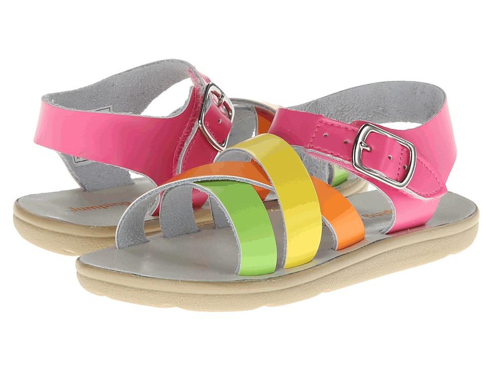 Jumping Jacks Kids - Taffy (Toddler/Little Kid) (Hot Pink Shiny/Multi Shiny Trim) Girls Shoes