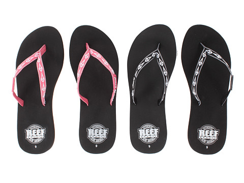 Reef - Ginger 30 Year Anniversary Edition - 2 Pack (Black/White & Hot Pink/White) Women's Sandals