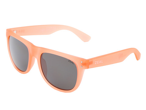 Zeal Optics - Ace (Crushed Coral w / Dark Grey Polarized Lens) Athletic Performance Sport Sunglasses