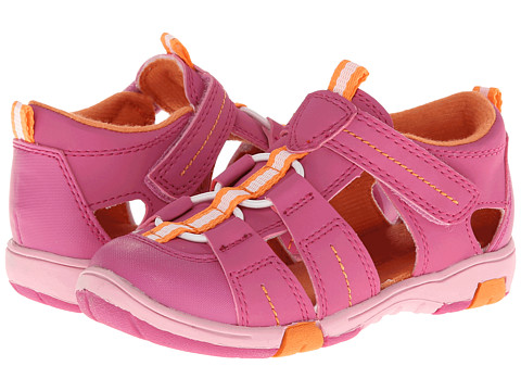 Jumping Jacks Kids - Beach Time (Toddler/Little Kid) (Hot Pink Suede/Orange Trim) Girl