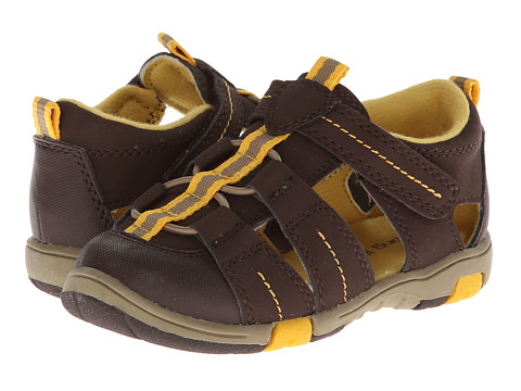 Jumping Jacks Kids - Beach Time (Toddler/Little Kid) (Chocolate Suede/Brown & Gold Trim) Boy's Shoes