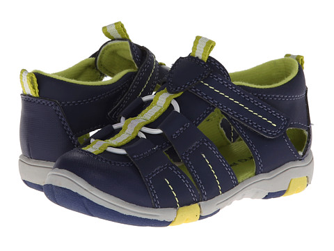 Jumping Jacks Kids - Beach Time (Toddler/Little Kid) (Dark Navy Suede/Citron Trim) Boy's Shoes