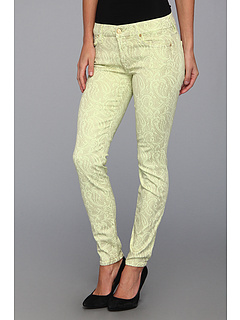 SALE! $79.99 - Save $145 on 7 For All Mankind The Skinny 29 in Celery w Almond Foil (Celery w Almond Foil) Apparel - 64.45% OFF $225.00