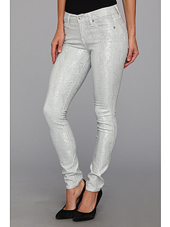 SALE! $59.4 - Save $139 on 7 For All Mankind The Skinny in Grey Silver Jacquard Snake (Grey Silver Jacquard Snake) Apparel - 70.00% OFF $198.00