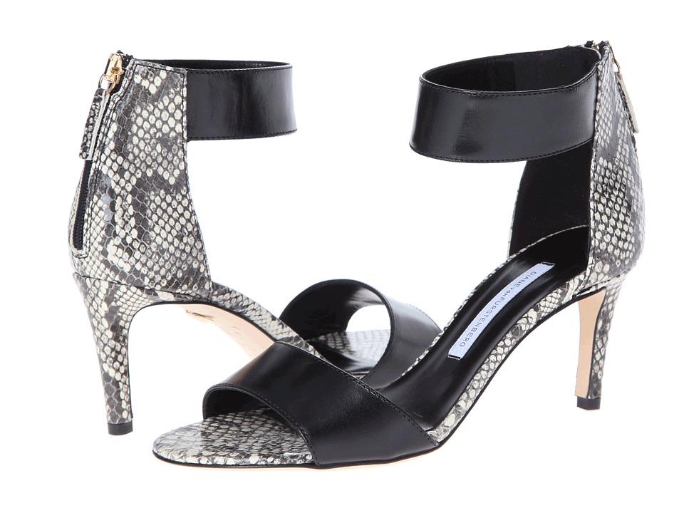 Diane von Furstenberg - Kinder (Black Vacchetta/Black/White Roccia Snake Print) High Heels