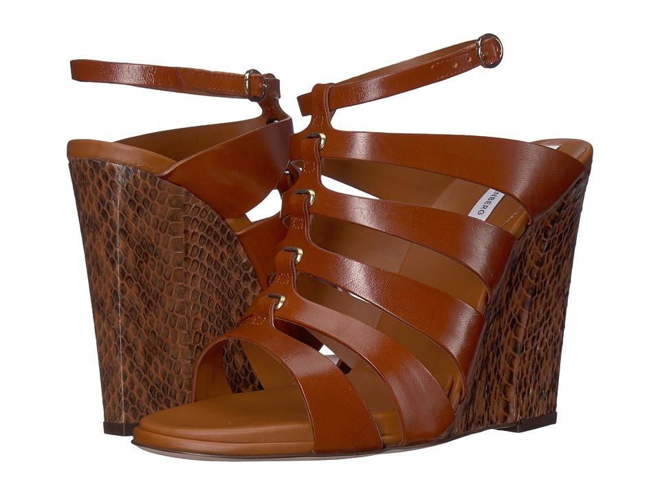 Diane von Furstenberg - Wave (Brandy Vacchetta) Women's Wedge Shoes