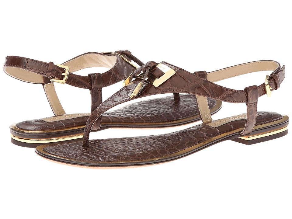 Michael Kors - Hara (Nutmeg Embossed Crocco) Women's Sandals