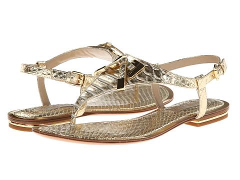 Michael Kors - Hara (Pale Gold Metallic Embossed Python) Women's Sandals