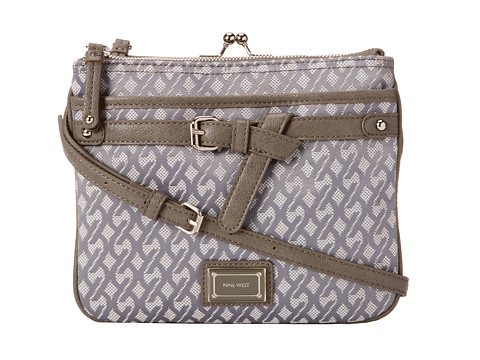 Nine West - Pick Your Pleasure Crossbody (Fog Charcoal/Light Paris Mushroom/Chalk) Cross Body Handbags