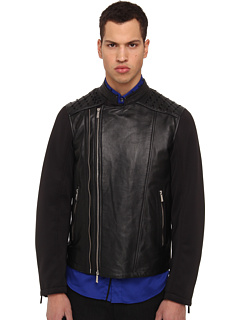 Just Cavalli Moto Jacket (Black) Men's Jacket