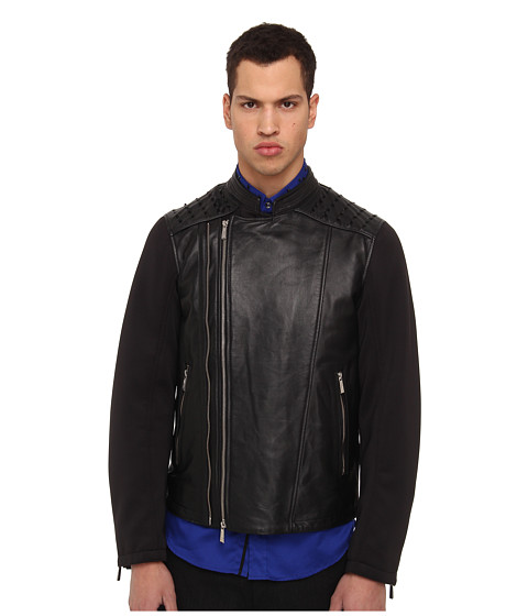 Just Cavalli Moto Jacket (Black) Men's Jacket