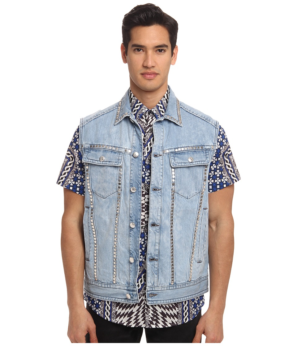 Just Cavalli - Sleeveless Denim Jacket (Blue Denim) Men's Jacket