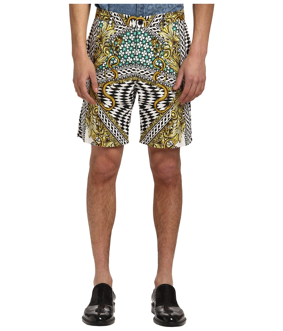 Just Cavalli - Miami Groove Shorts (White) Men's Shorts