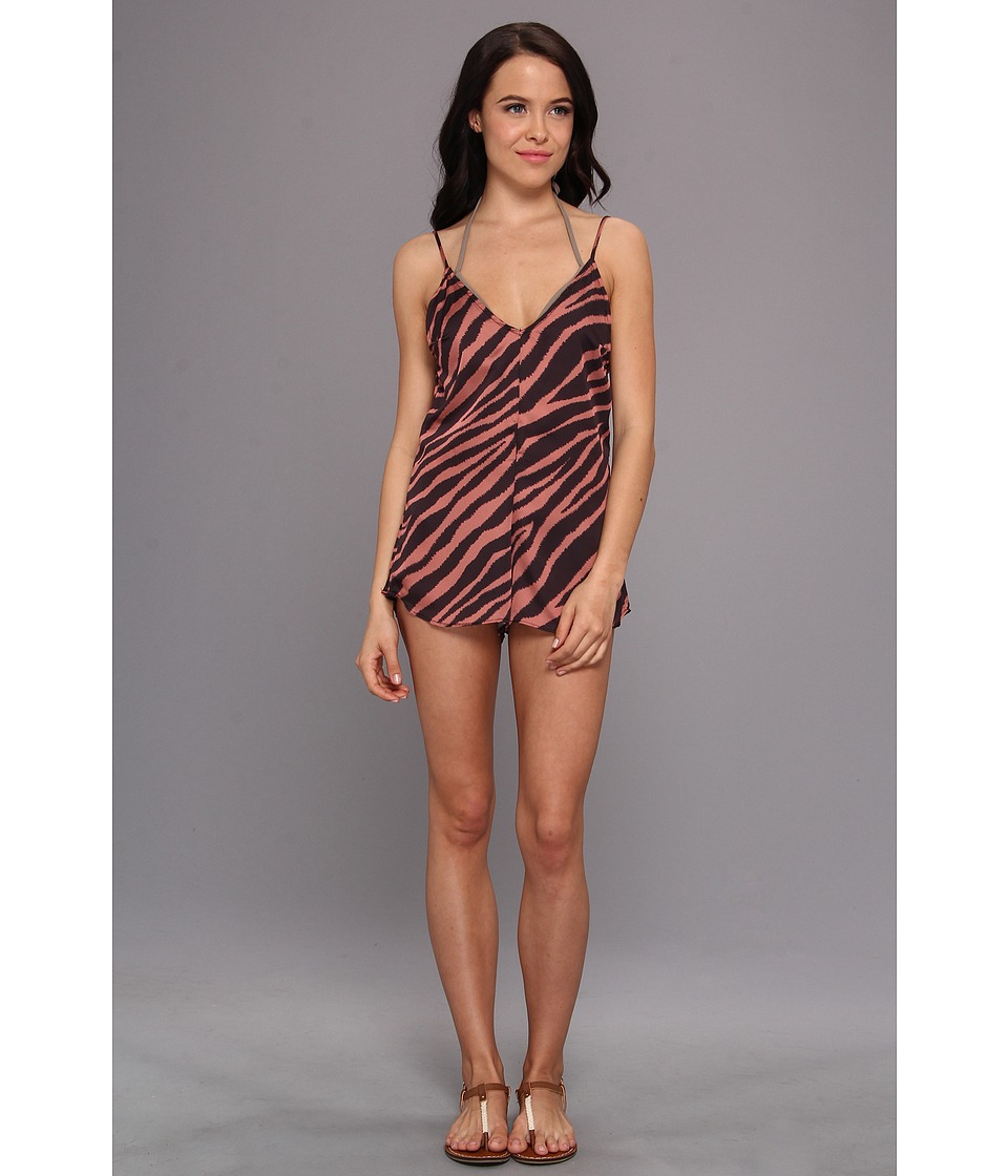Beach Riot - Beach Romper Cover-Up (Eye Of The Tiger) Women's Jumpsuit & Rompers One Piece