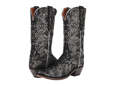 Lucchese - M4717.S54 (Black/Silver) Cowboy Boots