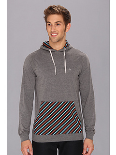 SALE! $16.99 - Save $23 on Quiksilver El Patched Hoodie (Charcoal Heather) Apparel - 56.99% OFF $39.50