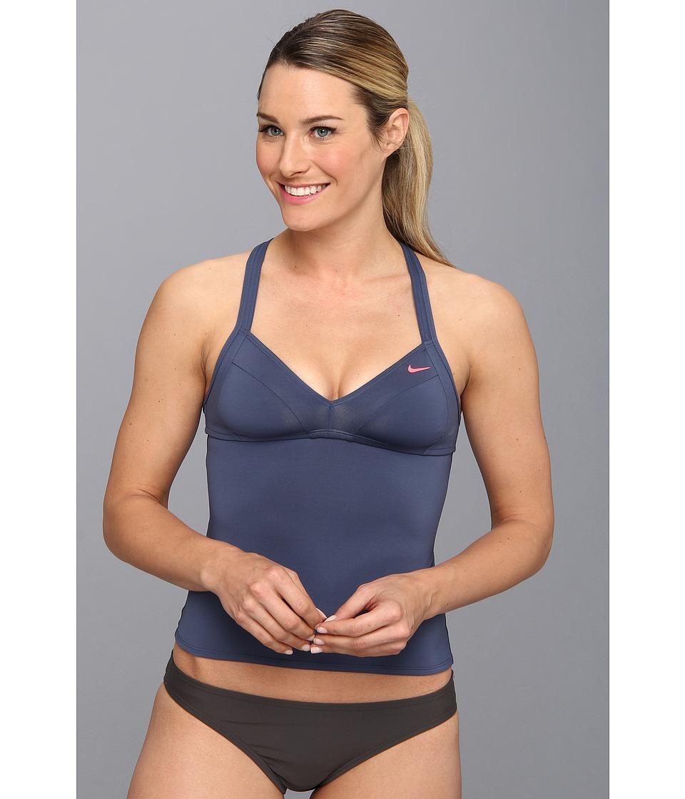 Nike - Bondi Solids Racerback Tankini (New Slate) Women