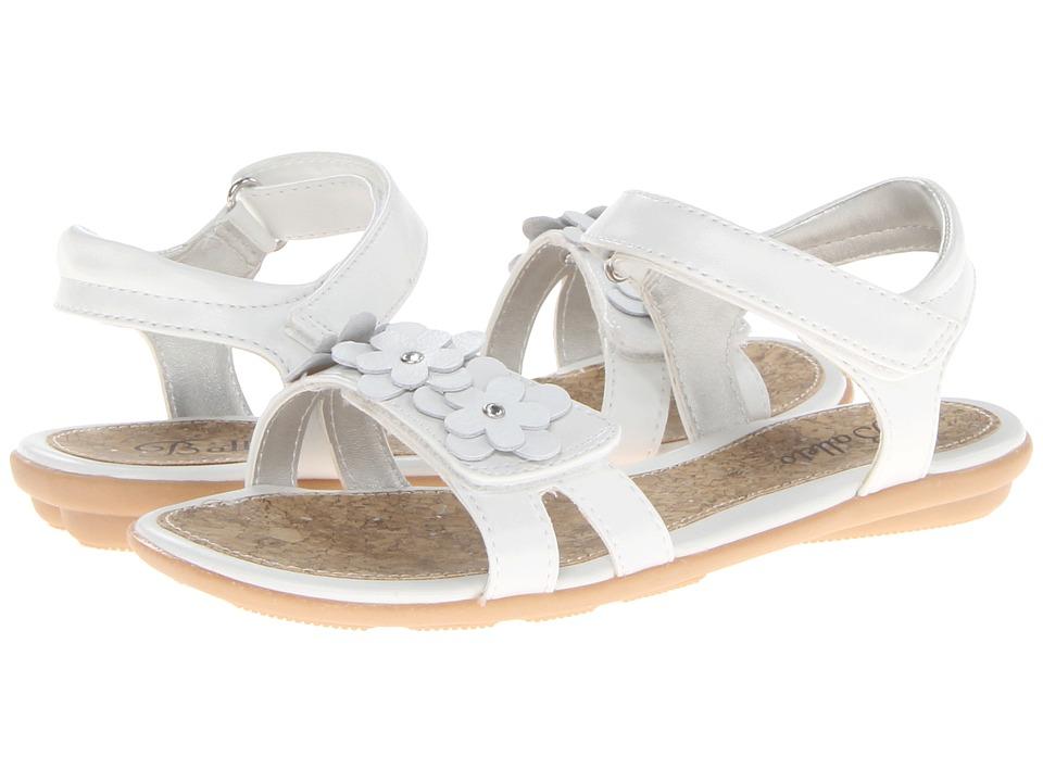Jumping Jacks Kids - Balleto - Jasmine (Toddler/Little Kid/Big Kid) (White/White Trim) Girls Shoes