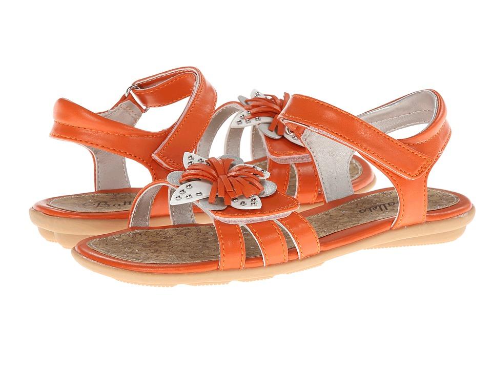 Jumping Jacks Kids - Coralie (Toddler/Little Kid/Big Kid) (Orange/Multi Trim) Girl's Shoes