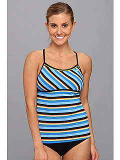 SALE! $21.99 - Save $22 on Nike Hyper Lines Racerback Tankini Top (Photo Blue) Apparel - 50.02% OFF $44.00