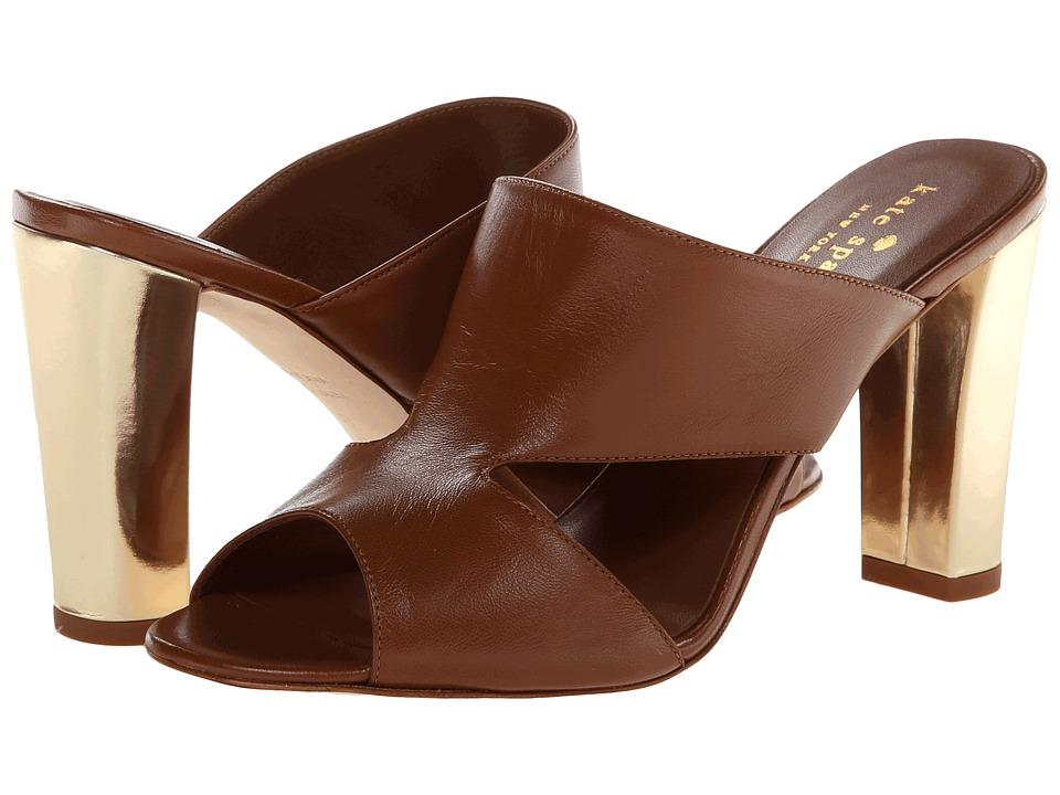 Kate Spade New York Iberia (Luggage Nappa/Mushroom Specchio Heel) High Heels