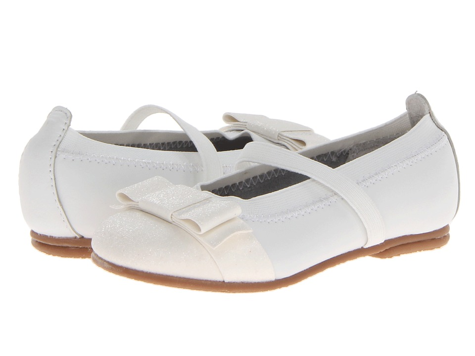 Jumping Jacks Kids - Balleto - Sparkle (Toddler/Little Kid/Big Kid) (White Leather/White Trim) Girls Shoes