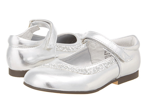 Jumping Jacks Kids - Danielle (Toddler/Little Kid) (Silver Metallic/Silver Glitter Trim) Girl's Shoes