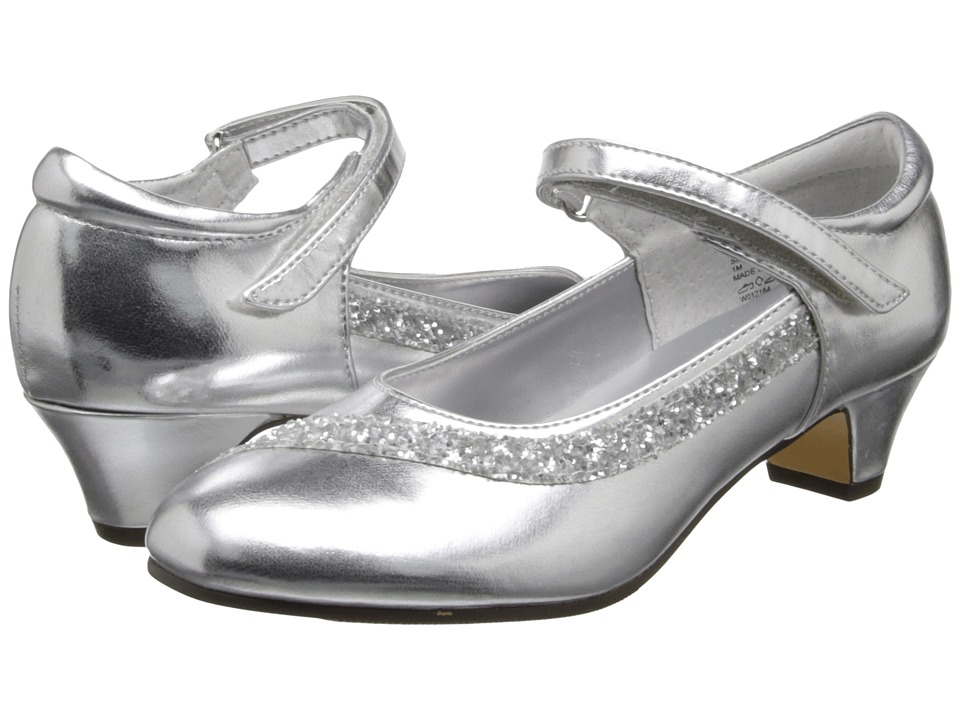 Jumping Jacks Kids - Balleto - Dayna (Little Kid/Big Kid) (Silver Metallic/Silver Glitter Trim) Girl's Shoes