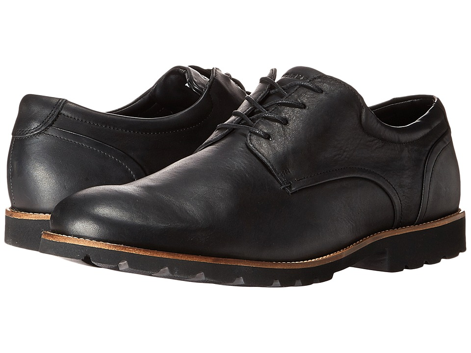 Rockport Colben Plain Toe Oxford (Black) Men's Shoes