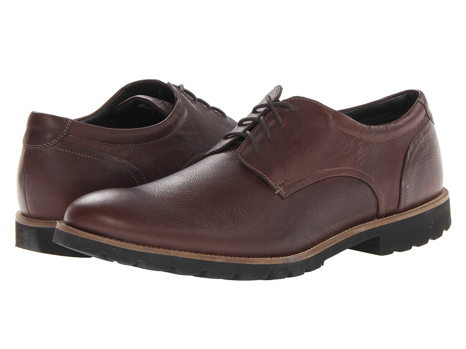 Rockport - Colben Plain Toe Oxford (Chocolate Brown) Men's Shoes