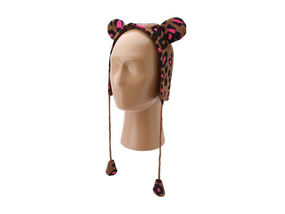 Betsey Johnson - Seeing Spots Earflap Hat (Little Kids/Big Kids) (Brown) Knit Hats