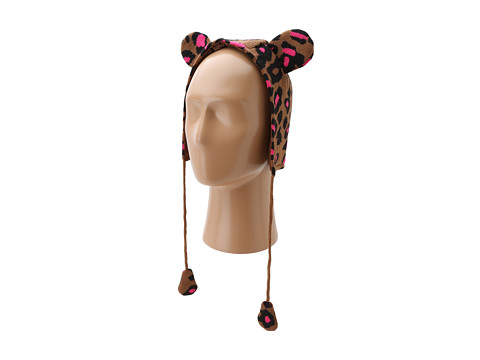 Betsey Johnson - Seeing Spots Earflap Hat (Little Kids/Big Kids) (Brown) Knit Hats