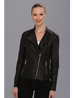 SALE! $59.99 - Save $100 on Calvin Klein Moto Faux Leather Jacket (Black) Apparel - 62.39% OFF $159.50
