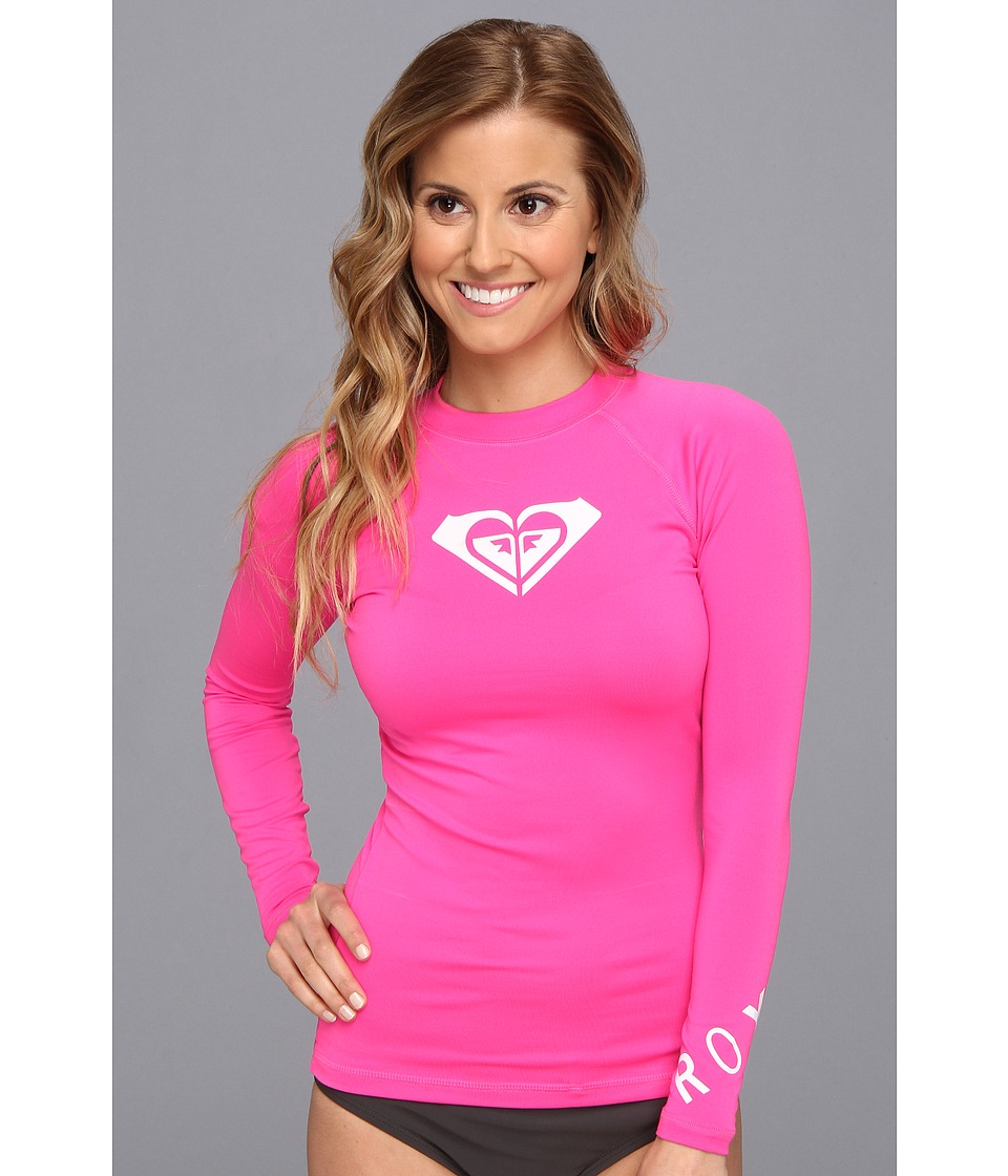 Roxy - Whole Hearted L/S Surf Shirt (Hot Pink) Women's Swimwear