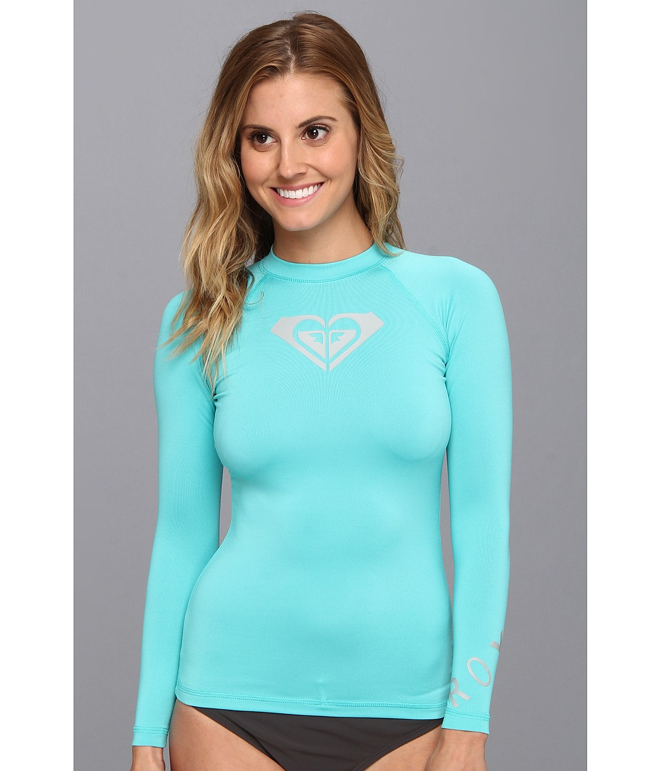 Roxy - Whole Hearted L/S Surf Shirt (Turquoise) Women's Swimwear