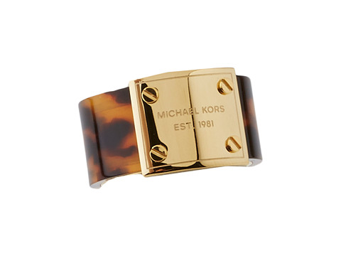 Michael Kors - MK Logo Plaque Ring (Gold/Tortoise) Ring