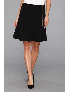 SALE! $58.67 - Save $31 on Calvin Klein Flounce Skirt (Black) Apparel - 34.45% OFF $89.50