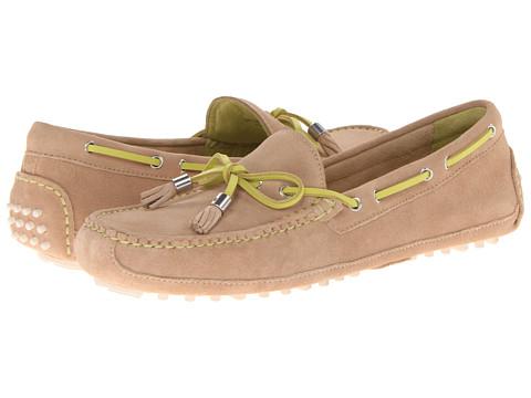 Cole Haan - Grant Driver (Sandstone Suede/Sprig) Women's Slip on Shoes
