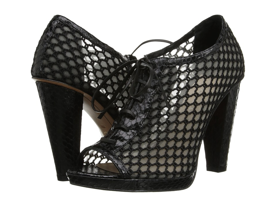 10 Crosby Derek Lam Jemma (Black Semi Shine Snake) High Heels