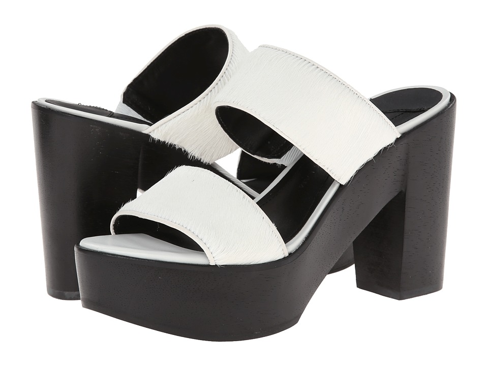 10 Crosby Derek Lam - Luanda Too (Soft White Haircalf Black Wood Ornament) Women