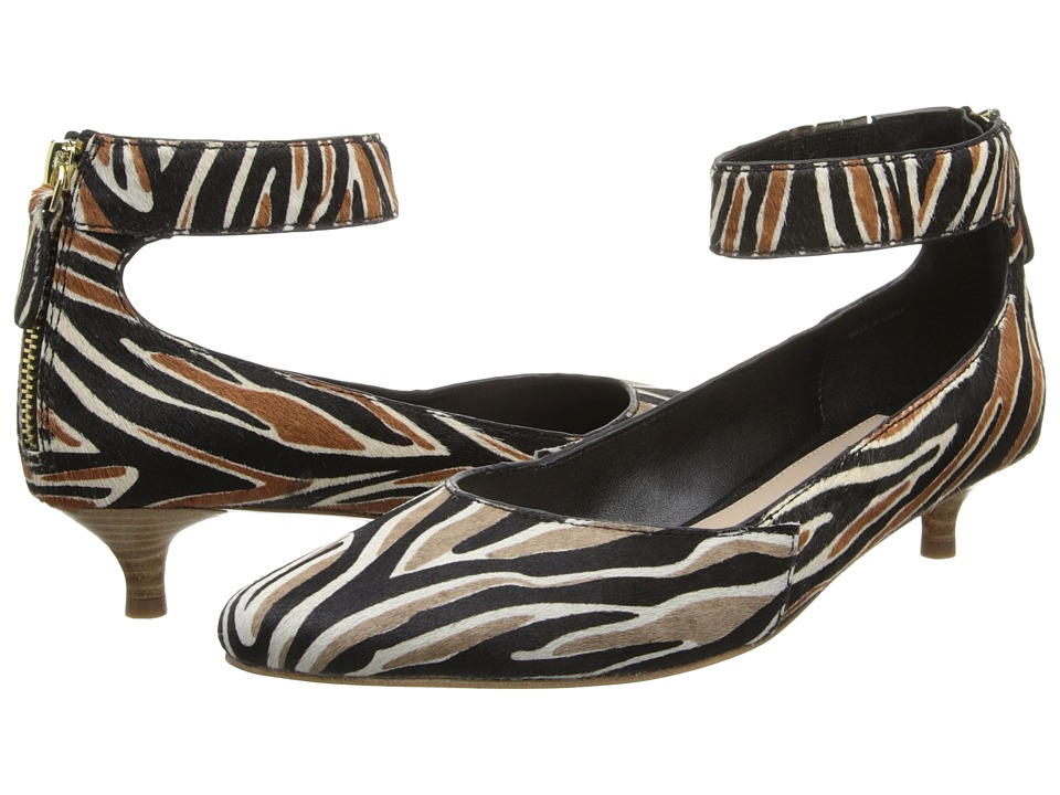 10 Crosby Derek Lam - Otis (Grey Zebra Haircalf Print) Women's 1-2 inch heel Shoes