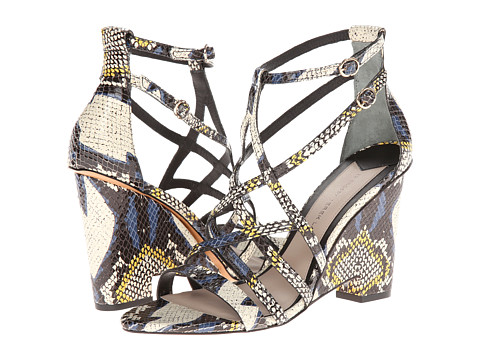 10 Crosby Derek Lam - Zanzibar (Yellow Tribal Snake Print Leather) High Heels