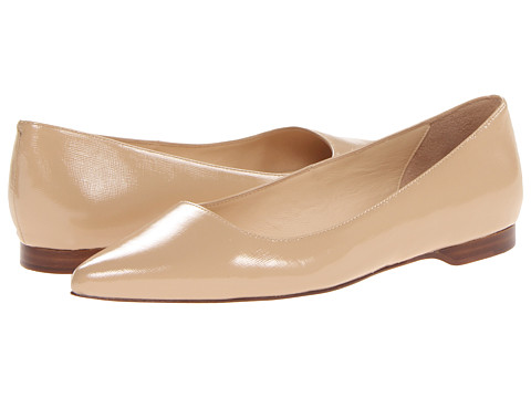 Cole Haan - Magnolia Skimmer (Sandstone Embossed Patent) Women's Flat Shoes