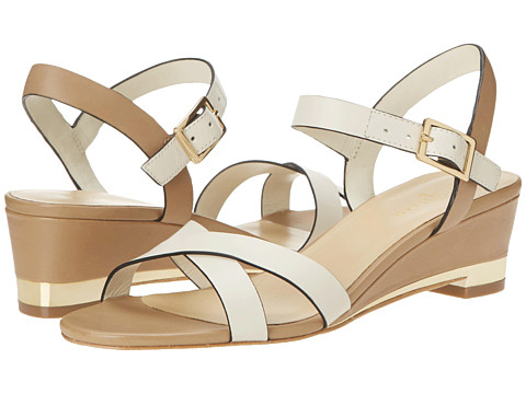 Cole Haan - Melrose Low Wedge (Ivory/Sandstone) Women's Sandals