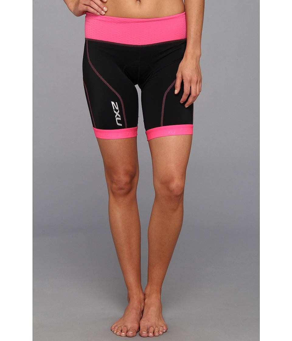 2XU - Perform Tri Short (Black/Synthetic Pink) Women's Shorts