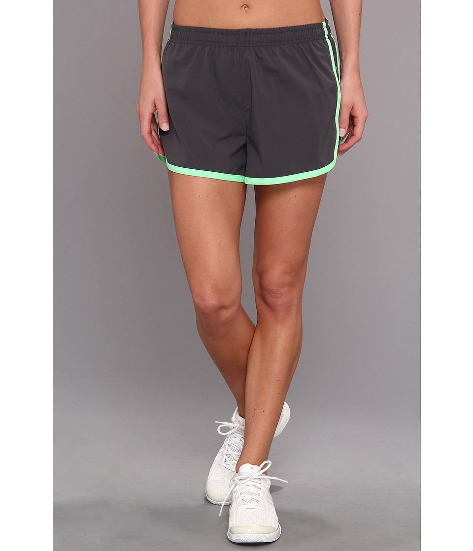 2XU - Run Short (Charcoal/Neon Lime) Women's Shorts